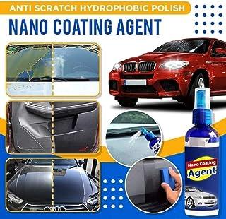 Anti Scratch Hydrophobic Polish Nano Coating Agent  Improve Glass Clarity&Fog Free And Increase Car's Shine,Give A Premium Nano Car Wipe (30+30) ML Medium