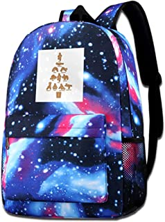 Galaxy - Bolsa de hombro estampada para hombre de jengibre, yoga, Navidad, casual, Star Sky, mochila para niños y niñas