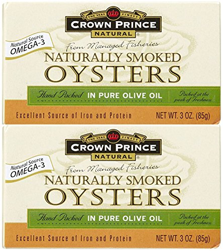Crown Prince Natural Smoked Oysters In Pure Olive...