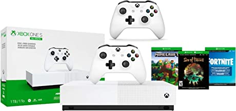 Xbox One S 1TB All-Digital Edition Two Controller Bundle, Xbox One S 1TB Disc-Free Console, 2 Wireless Controllers, Downlo...