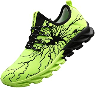 mei nian guan Men's Fashion Graffiti Running Sneakers Personality Breathable Walking Casual Cool Shoes