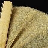 9m*30cm Rollo Tul Dorado Decoración Tul Carrete Brillo Manualidades para Decoración de Boda Banquete Fiesta Navidad Envolver Regalos Lazos Sillas Tutú Falda