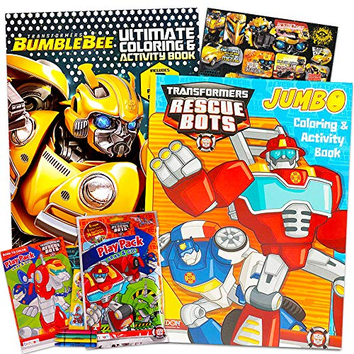 Transformers Rescue Bots Coloring and Activity Book Set With Stickers and Crayons