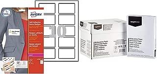 AVERY ZWECKFORM Lot de 3 Boites de 200 bristols microperfor/és 190//m/² en planche A4 pour badges 5,4x9 cm
