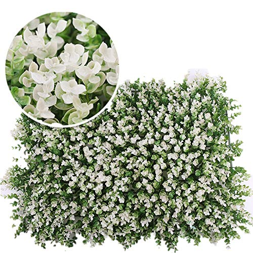 DLSMB Artificial Hedges Panels Artificial Boxwood Panels Leaf Screening UV Protection Privacy Hedging For Outdoor Indoor Garden Backyard Home Balcony 12 Pieces for Home Garden Backyard Wedding