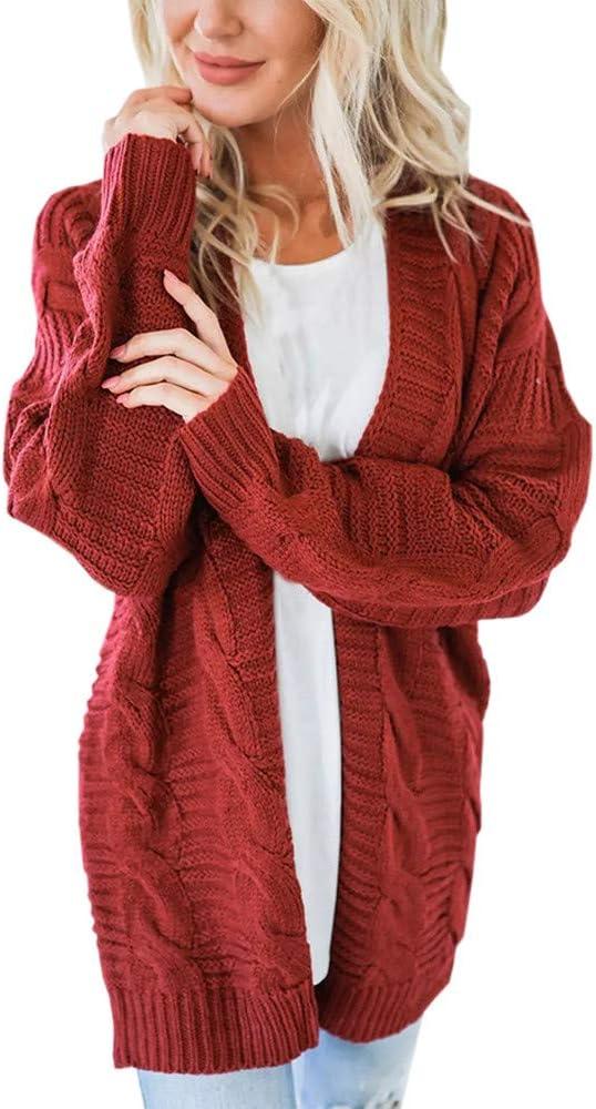 Cardigan women/'s Loose Coat Cashmere Winter Long knitted Sweater cloak Warm
