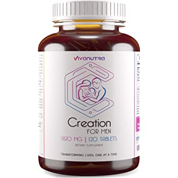 Male Fertility Supplement 120 Ct - Support Mens Count, Healthy Volume - All Natural Herbal Vitamin Blend to Aid Infertility and to Help Conception for Him - 2 Month Supply
