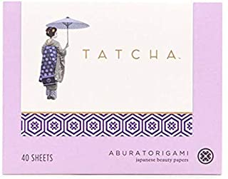Tatcha Aburatorigami Blotting Papers: 100% Natural Abaca Leaf & Gold Flakes Absorb Excess Oil (40 Pack)