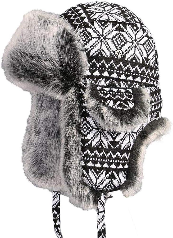 Insun Unisex Cappello da Aviatore Berretto Antivento Invernale Cappelli Russo