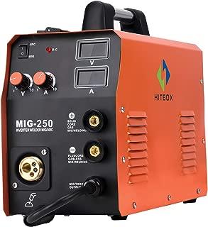 HITBOX New Arrival Mig Welder MIG250 MIG TIG ARC Welding Machine Gas Gasless Welder 220V Mig Welding Machine 3 in 1