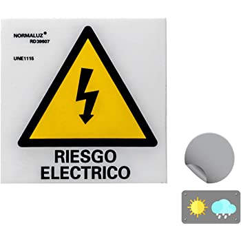 Normaluz RD38610 - Señal Adhesiva 10 Unidades ¡Peligro ...