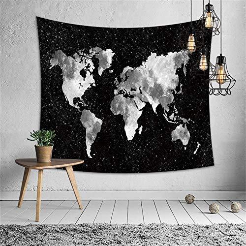 RKmaster Wandtapijt, vintage, baksteen bedrukt wandtapijt, wereldkaart, hippie, behang, landkaart, decoratie, Boheemse decoratie, achtergrond, kunstdeken, wandtapijt