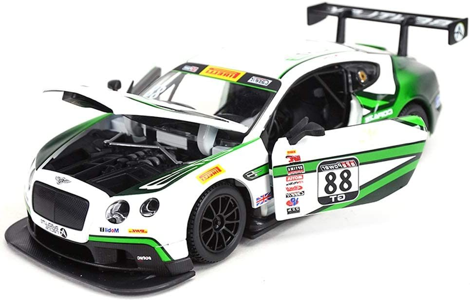 New arrival HTDZDX Racing Car Die-Cast Model GT3 Fashionable Continental Bentley 1:24 M