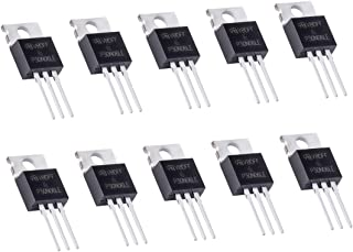 PAGOW 10 Pack RFP30N06LE 30A 60V MOSFET Transistors, N-Channel Power TO-220 ESD Rated for Arduino