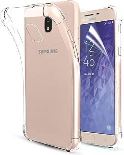 Case for Samsung Galaxy J3 2018,J3 Star Case,J3 AchieveCase,J3 V 3rd Gen/J3  Orbit/J3 Express Prime 3/Amp Prime 3/Sol 3 Case,Clear Soft TPU W/[Screen