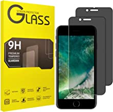 [2-Pack] uSuker for Apple iPhone 8 Plus/iPhone 7 Plus (Privacy) Anti-Spy Tempered Glass Screen Protector, Anti-Scratch, Anti-Fingerprint, Bubble Free, Case Friendly