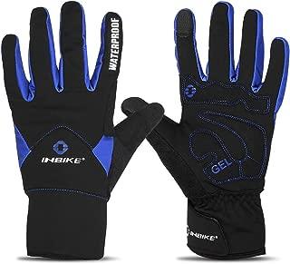 INBIKE Men's Touch Screen Winter Cold Weather Thermal Windproof Gel Bike Gloves