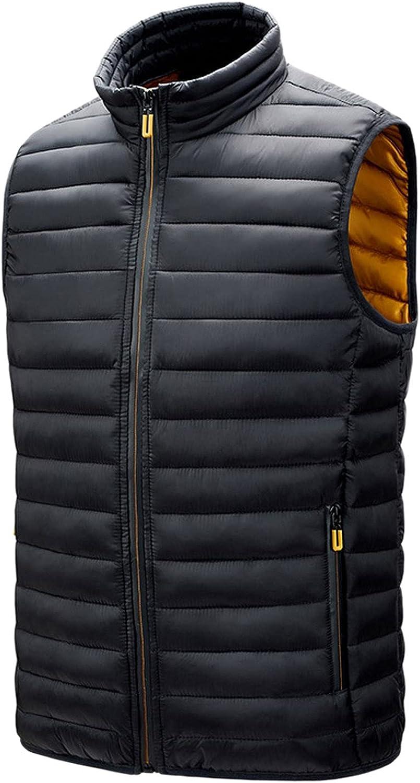 HULKAY Quantity limited Men's Winter Warm Puffer Lightweight Vest Sleeveles Ultra Max 84% OFF