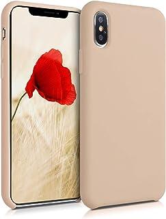 kwmobile telefoonhoesje compatibel met Apple iPhone XS Max - Hoesje met siliconen coating - Smartphone case in parelmoer