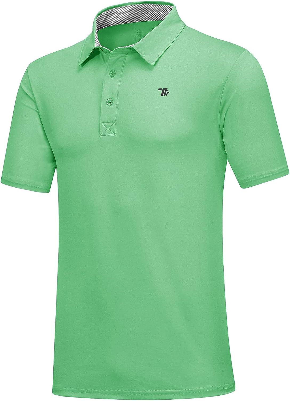 MoFiz Men's Las Max 58% OFF Vegas Mall Short Sleeve Golf Polo Sh Shirt Sport Dry Quick