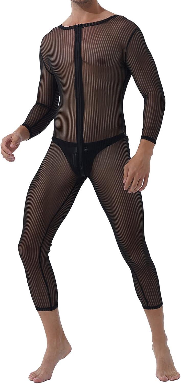 Freebily Men's Stripe Leopard San Antonio Mall Print Jumpsuits Fort Worth Mall Sleeve Long One Pi