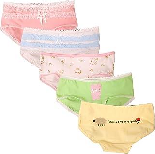 Beauty_yoyo 5 6 Pack Teen Girls Cotton Brief Underwear Bikini Lingerie Panty