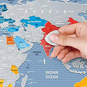 Mapamundi de rascar Viaje Fin de Semana