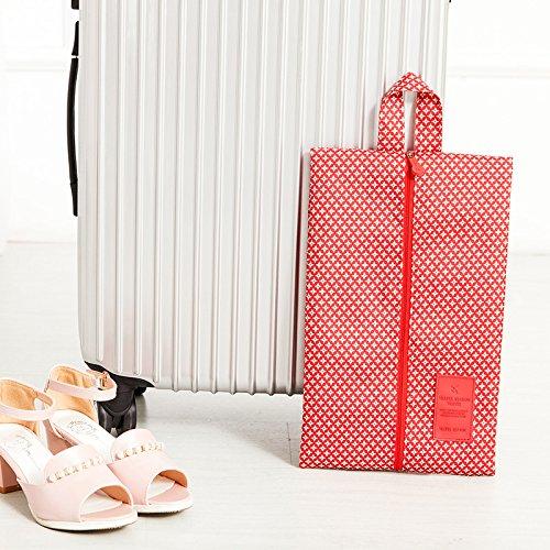 MZP chaussure chaussures imperméables sacs de poche du sac à poussière de la poche Voyage valise chaussures de sac couvre chaussure boîte à chaussures , red star point