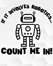 If It Involves Robotics...Count Me In !: Line College Ruled Composition Exercise Book Notebook For Middle School Through To College University