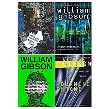 Sprawl Series Complete 4 Books Collection Set by William Gibson  Neuromancer Count Zero Mona Lisa Overdrive & Burning Chrome