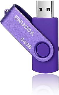 Clé USB 64 Go ENUODA USB 2.0 Flash Drive Stockage Rotation Disque Mémoire Stick ,Violet