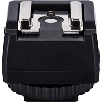 JJC Standard Hot Shoe Adapter with Extra PC sync Connection Port & 3.5mm Mini Phone Connection Port for Connecting Cameras to Additional Off-Camera Flash,Studio Light,Strobes or Other Accessories