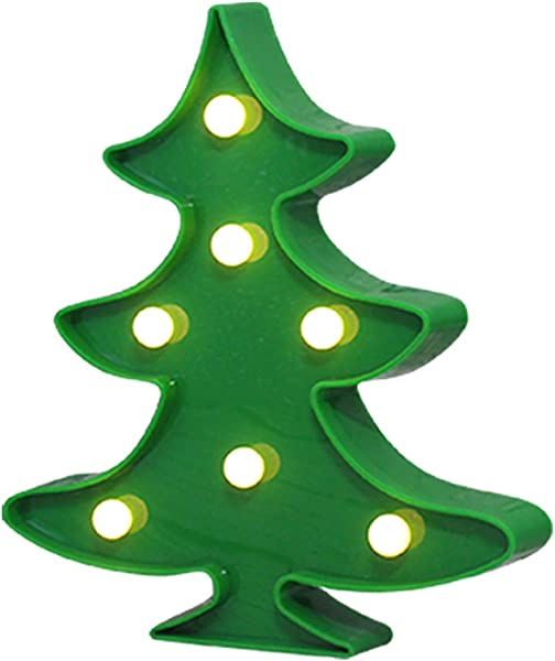 Yaeer Christmas Tree LED Marquee Lights Tbale Lamp Wall Decorative Light For Party Home Kids Room Living Room
