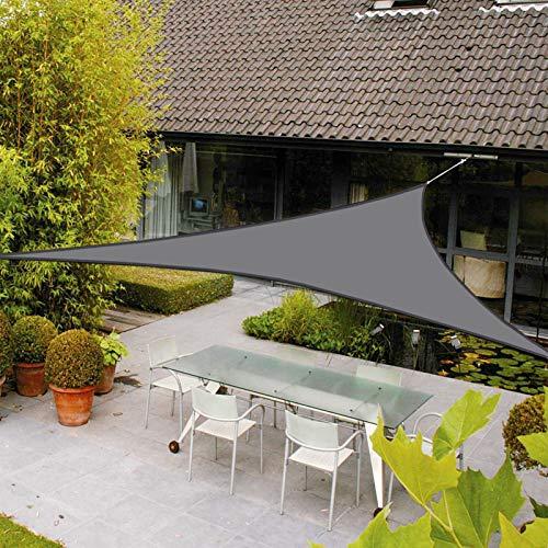 AXT SHADE Voile d'ombrage Imperméable Triangulaire 3 x 3 x 3m Une Protection des Rayons UV pour Extérieur/Terrasse/Jardin -Coloris Gris