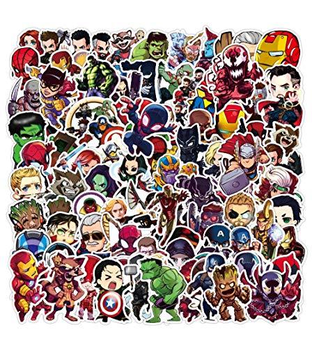 HUNSHA 50 unids Cartoon Marvel Pegatinas Impermeable Etiqueta de Equipaje Monopatín Guitarra Portátil Stikers Kid Toy