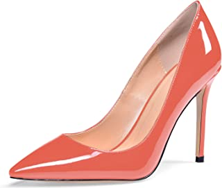 YODEKS Women's Pointed Toe Classic Pumps 100mm Stiletto Heel Shoes Dress Pumps