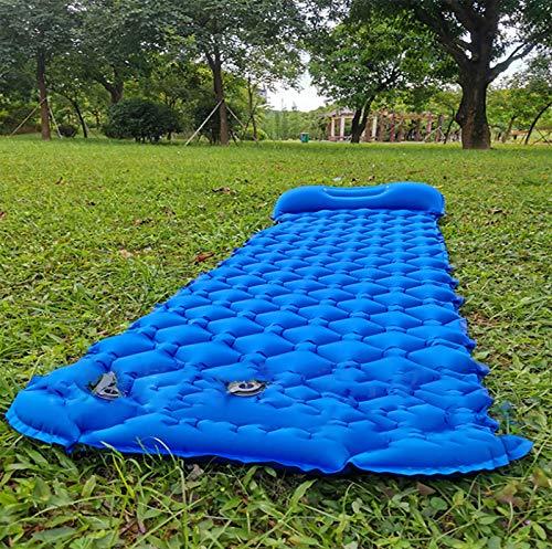HFDJ Almohadilla para Dormir con Aire para Acampar, pie de presión, Inflable, Liviana, para Mochila Adecuado para Caminatas, colchón de Aire Impermeable y Duradero Almohadilla para Caminatas compacta