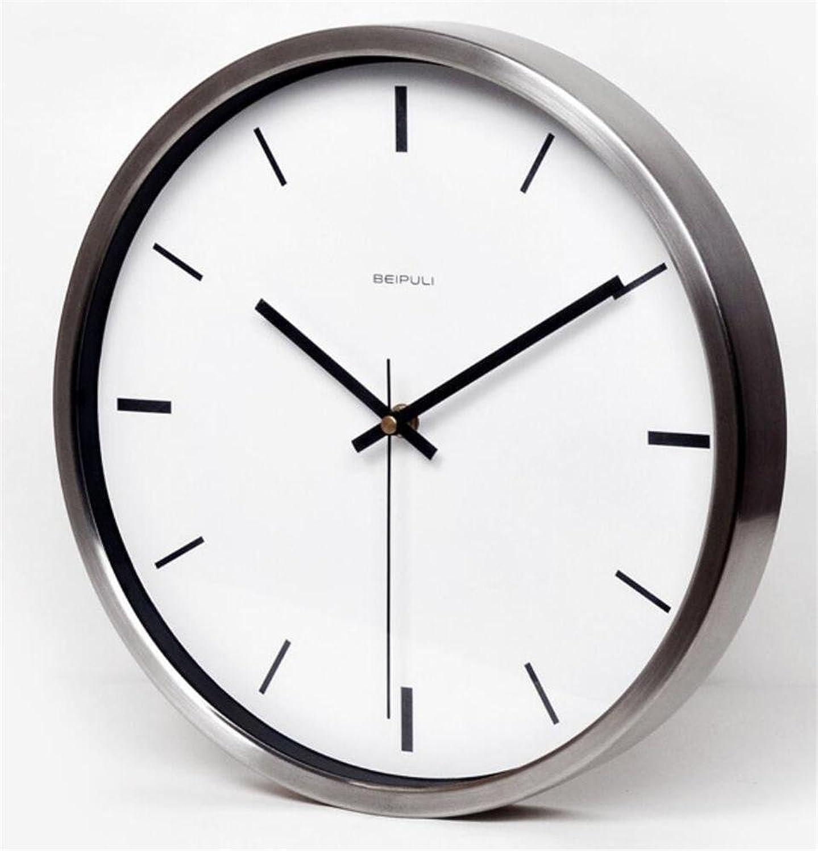 ZHIYUAN Silent Round Wall Clock Creative Clock Hanging Table Quartz Clock Watch Living Room , 2