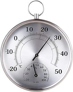 YIN YIN, higrómetro de la Temperatura, higrómetro Temperatura del Metal Oficina en casa termómetro de Interior de Alta pre...