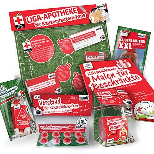 Kaiserslautern Trainingshose ist jetzt KLEINE PIMMEL Set 2: MAXIMAL-Spass-Paket by Ligakakao.de rot-weiß Herren Uhlsport Jogging lauf-Hose Trainingsanzug