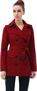 Women's Evelyn Classic Hooded Short Trench Coat