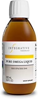 Integrative Therapeutics - Pure Omega Liquid Fish Oil - Natural Lemon Flavor - 2300 mg Omega 3 Fatty Acids with EPA and DHA - Wild Fish Oil - No Fishy Burp Back - 6.8 fl oz
