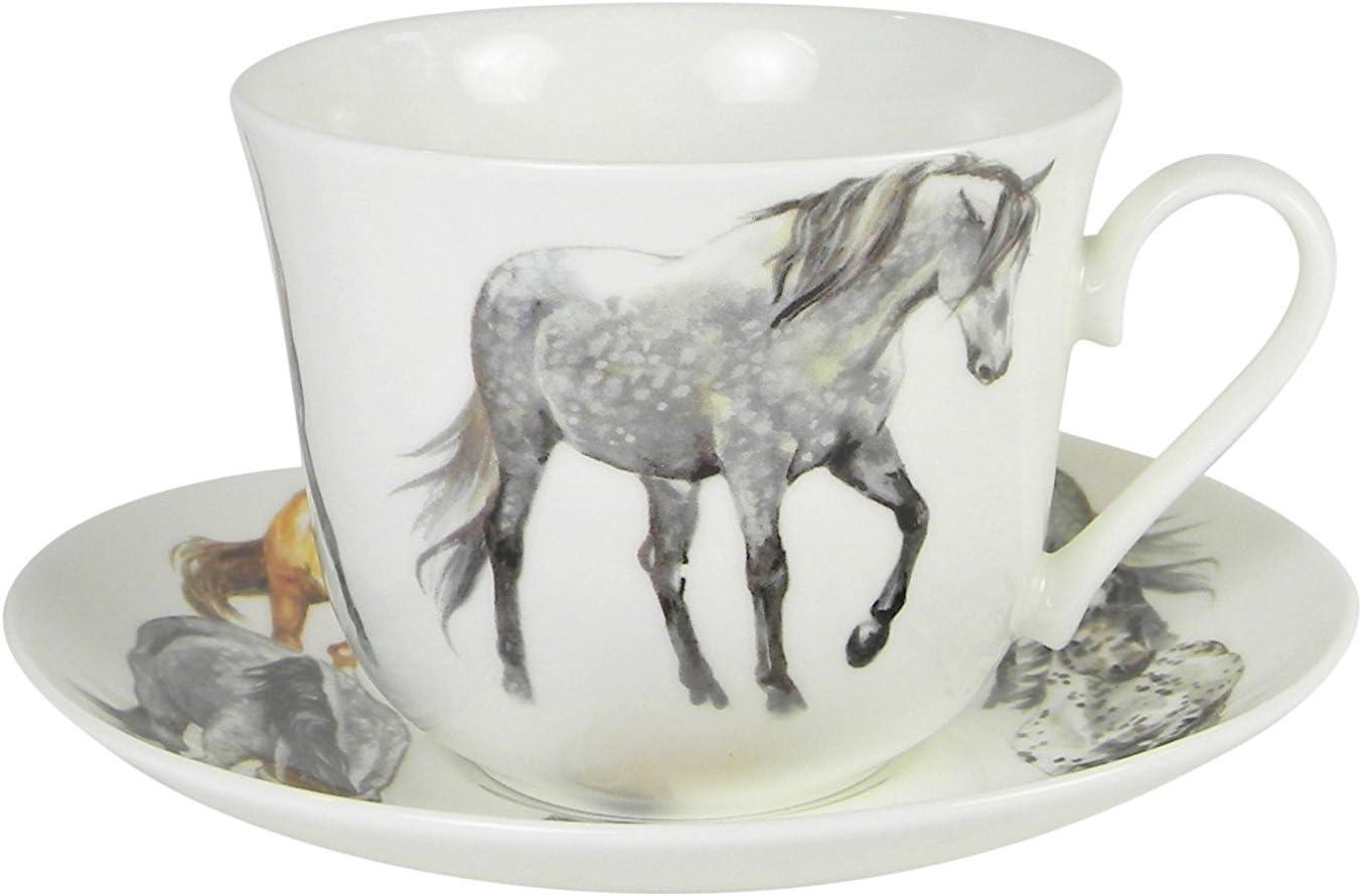 Roy Kirkham My Trust 55% OFF Horse Breakfast Teacup Set and Saucer Bone C Fine