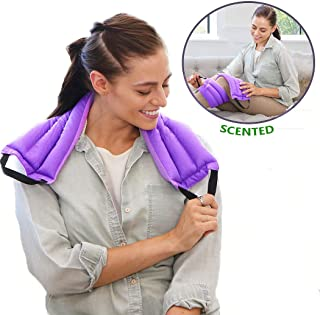 My Heating Pad Microwavable Multi Purpose Wrap for Cramps Relief | Heating Pad for Neck and Shoulders | Insomnia and Headache Relief | Reusable Hot Pack for Injuries and Sore Muscles - Lavender Purple