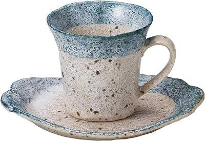 山下工芸 カップ_ソーサー ブルー φ8.3×7.8cm(180cc) 渕ブルーコーヒー碗皿 15051120