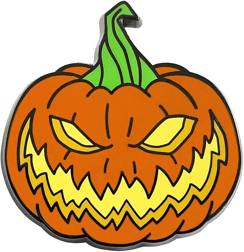 Pinsanity Same day Safety and trust shipping Creepy Horror Halloween Pin Pumpkin Lapel Enamel