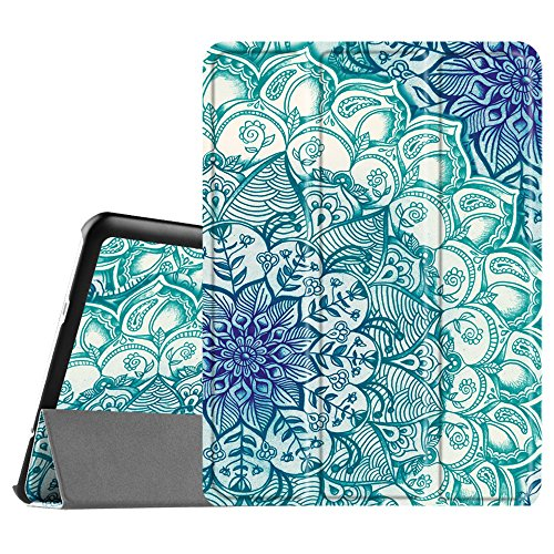 FINTIE SlimShell Case for Samsung Galaxy Tab S2 9.7-inch Tablet (SM-T813 / SM-T819) - Super Thin Lightweight Stand Cover with Auto Sleep/Wake Feature, Emerald Illusions