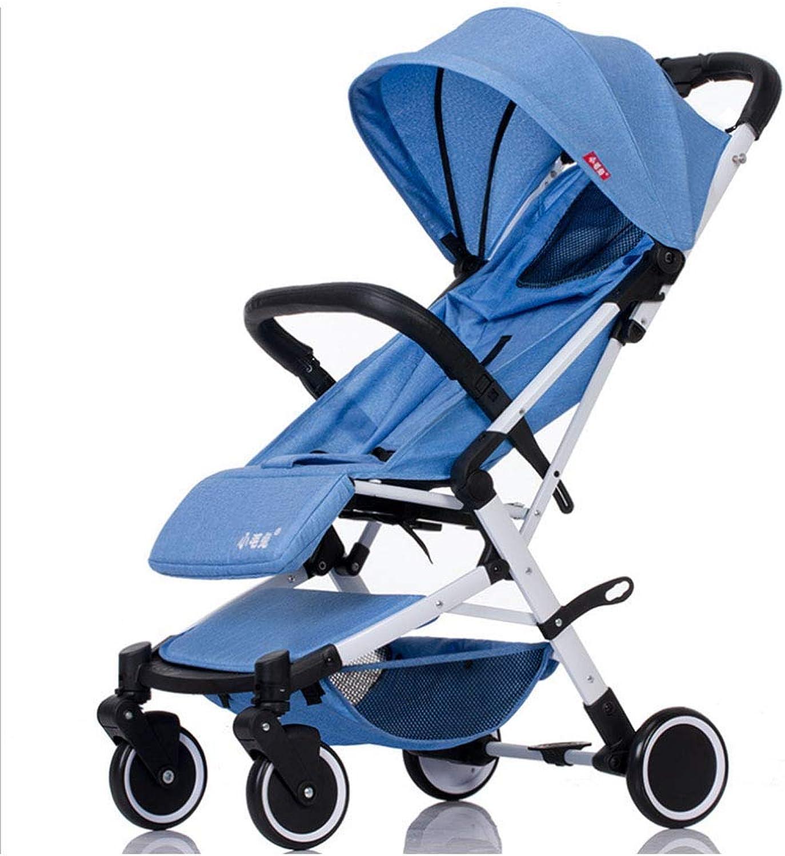MINISU Sugling Kinderwagen, sitzend, liegend, leicht zu Falten, geringes Gewicht, ausgestattet mit Einem 5-Punkt-Sicherheitssystem, Sonnenschutz, stofest, grau Reise (Farbe   Blau)