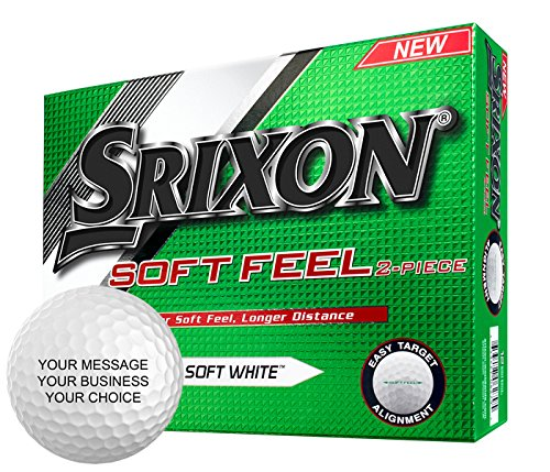 Find Discount Srixon Soft Feel Personalized Golf Balls - Add Your Own Text (12 Dozen) - White