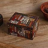 Mxtech Cajas de Almacenamiento, Caja organizadora de Joyas Caja de Almacenamiento, Caja de Almacenamiento de Madera Cajas de Almacenamiento Decorativas Joyero para niñas para(2208A-05-66 Highway)